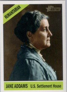 Jane Addams card from Topps' Heritage Heroes series (2009)