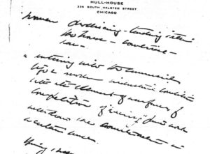 Jane Addams to Richard T. Ely, November 27, 1902